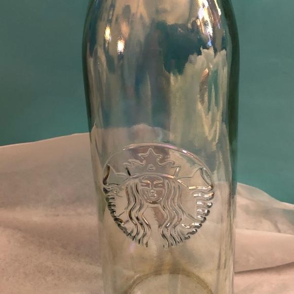 Starbucks Iridescent Clear Water Bottle